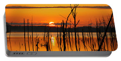 Golden Sunrise Portable Battery Charger by Roger Becker