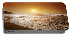 Portable Battery Charger featuring the photograph Golden Sunset by Aaron Berg