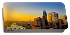 Golden Sunset In Austin Texas Portable Battery Charger