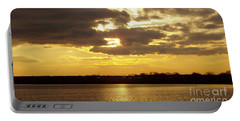 Portable Battery Charger featuring the photograph Golden Sunset by John Telfer