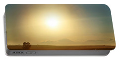 Portable Battery Charger featuring the photograph Golden Sunset by Judy Palkimas