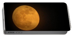 Golden Super Moon Portable Battery Charger by Kathy Barney