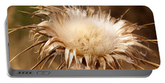 Golden Thistle Portable Battery Charger by Kerri Mortenson