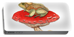 Portable Battery Charger featuring the painting Golden Toad by Katherine Miller