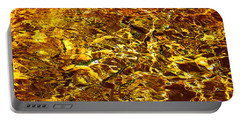 Golden Water Abstract. Feng Shui Portable Battery Charger by Jenny Rainbow