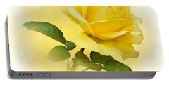Golden Yellow Rose Portable Battery Charger