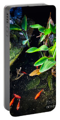 Portable Battery Charger featuring the photograph Goldfish In Pond by Silvia Ganora