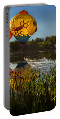 Goldfish Reflection Portable Battery Charger by Linda Villers