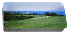 Golf Course At The Oceanside, Kapalua Portable Battery Charger