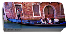 Portable Battery Charger featuring the photograph Gondola 4 by Allen Beatty