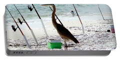 Gone Fishing Portable Battery Charger by Debra Forand