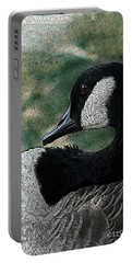 Portable Battery Charger featuring the photograph Goose Art Pap Daddy Goose II by Lesa Fine