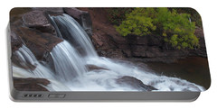 Portable Battery Charger featuring the photograph Gooseberry Falls In Slow Motion by James Peterson