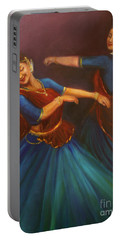 Gopis Dancing To The Flute Of Krishna Portable Battery Charger