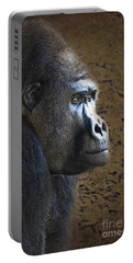 Gorilla Portrait Portable Battery Charger by Heiko Koehrer-Wagner