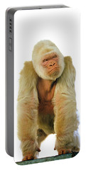 Gorille Albinos Gorilla Gorilla Portable Battery Charger by Gerard Lacz