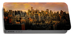 Portable Battery Charger featuring the photograph Gotham Sunset by Chris Lord