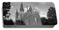 Portable Battery Charger featuring the photograph Gothic Church In Black And White by John Telfer