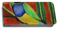 Portable Battery Charger featuring the painting Gouldian Finch by Jeanne Fischer