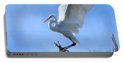 Portable Battery Charger featuring the photograph Graceful Landing by Deb Halloran