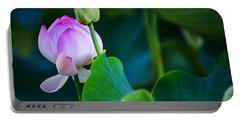 Graceful Lotus. Pamplemousses Botanical Garden. Mauritius Portable Battery Charger
