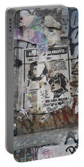 Graffiti In New York City Che Guevara Mussolini  Portable Battery Charger by Anna Ruzsan