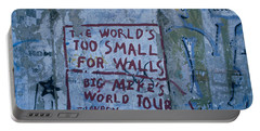 Graffiti On A Wall, Berlin Wall Portable Battery Charger by Panoramic Images
