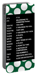 Portable Battery Charger featuring the digital art Grammar Rules by Nancy Ingersoll