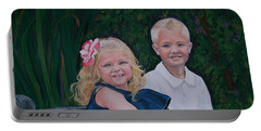 Grampa And Gramma's Joy  Portable Battery Charger by Sharon Duguay