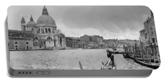 Portable Battery Charger featuring the painting Grand Canal Venice Italy by Georgi Dimitrov