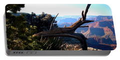 Portable Battery Charger featuring the photograph Grand Canyon Dead Tree by Matt Harang