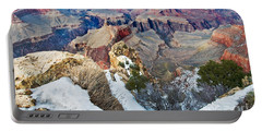 Portable Battery Charger featuring the photograph Grand Canyon In February by Mae Wertz