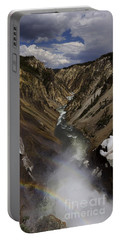 Portable Battery Charger featuring the photograph Grand Canyon Of The Yellowstone - 25x63 by J L Woody Wooden