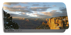 Grand Canyon. Winter Sunset Portable Battery Charger