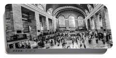 Grand Central Station -pano Bw Portable Battery Charger
