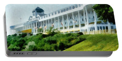 Grand Hotel Mackinac Island Ll Portable Battery Charger by Michelle Calkins