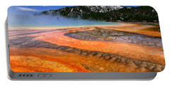 Portable Battery Charger featuring the photograph Grand Prismatic Spring Boardwalk View by Greg Norrell