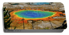 Portable Battery Charger featuring the photograph Grand Prismatic Spring No Border by Greg Norrell