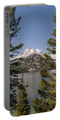 Grand Teton On Jenny Lake - Grand Teton National Park Wyoming Portable Battery Charger