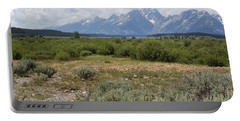 Grand Tetons From Willow Flats Portable Battery Charger by Belinda Greb