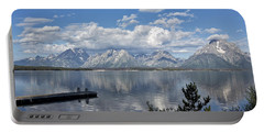 Grand Tetons In The Morning Light Portable Battery Charger