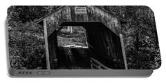 Grange City Covered Bridge - Bw Portable Battery Charger