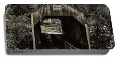 Grange City Covered Bridge - Sepia Portable Battery Charger