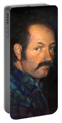 Portable Battery Charger featuring the painting Grant by Donna Tucker
