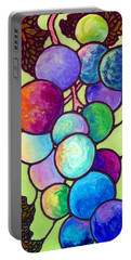 Portable Battery Charger featuring the painting Grape De Chine by Sandi Whetzel