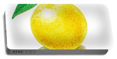 Grapefruit Portable Battery Charger by Irina Sztukowski