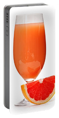 Grapefruit Juice In Glass Portable Battery Charger