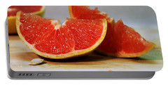 Grapefruit Slices Portable Battery Charger