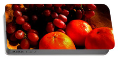 Portable Battery Charger featuring the photograph Grapes And Tangerines by Greg Allore