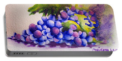 Portable Battery Charger featuring the painting Grapes by Chrisann Ellis